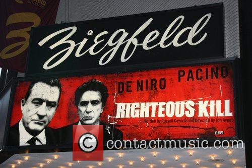 'Righteous Kill' Marquee New York Premiere of 'Righteous...