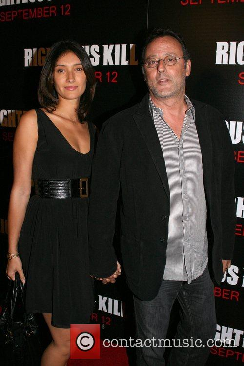 Zofia Borucka and Jean Reno New York Premiere...