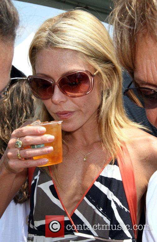 Kelly Ripa drinking tea Super Saturday hosted by...
