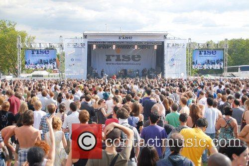 Atmosphere at RISE Festival, Finsbury Park,  London,...