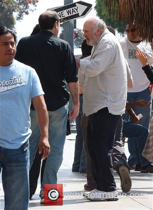 Rob Reiner leaving a Santa Monica movie theatre...
