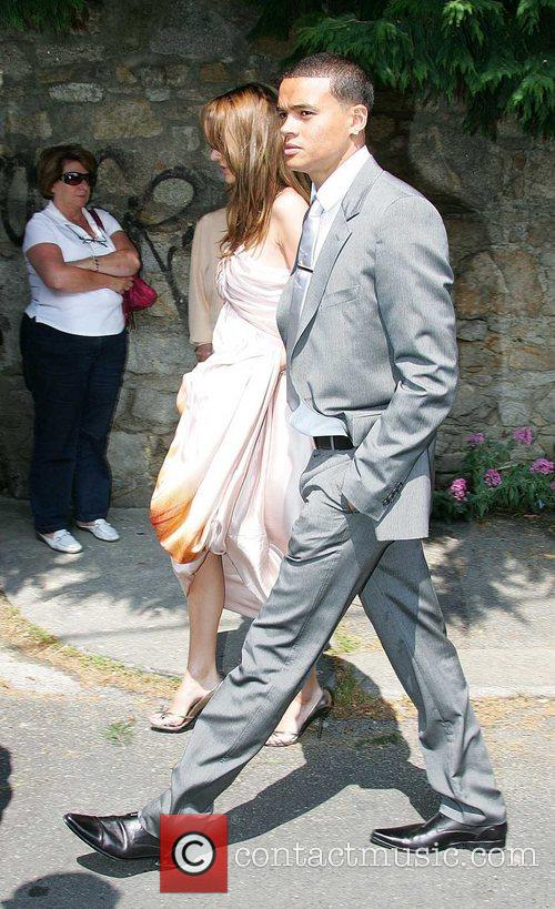Wedding of Robbie Keane and Claudine Palmer in...