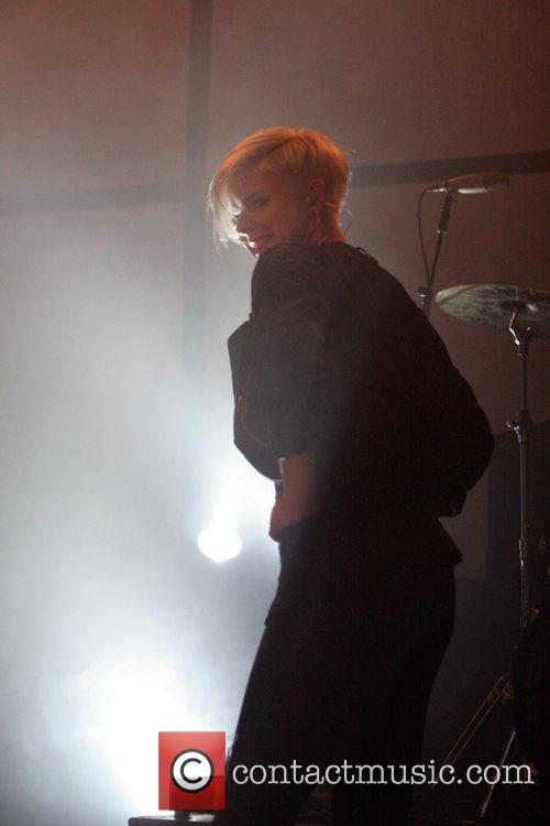 Swedish pop singer Robyn performing live in concert...