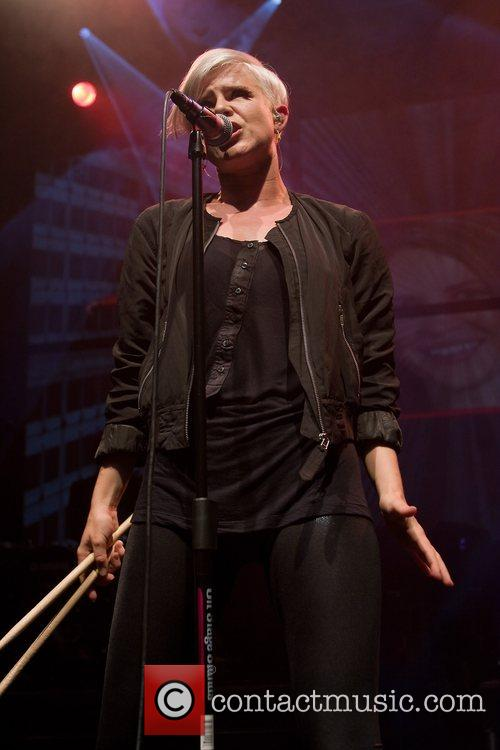 Swedish pop singer Robyn performing live in concert...