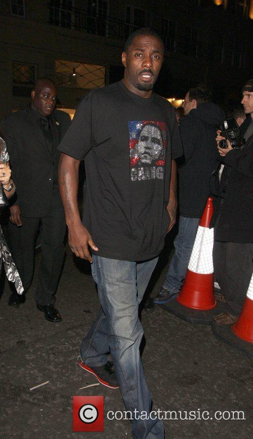 Idris Elba wearing a Barack Obama t-shirt Afterparty...