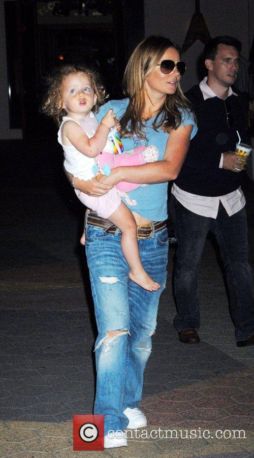 Geri Halliwell and Bluebell Halliwell at a birthday...