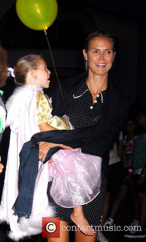 Heidi Klum with daughter Leni at a birthday...