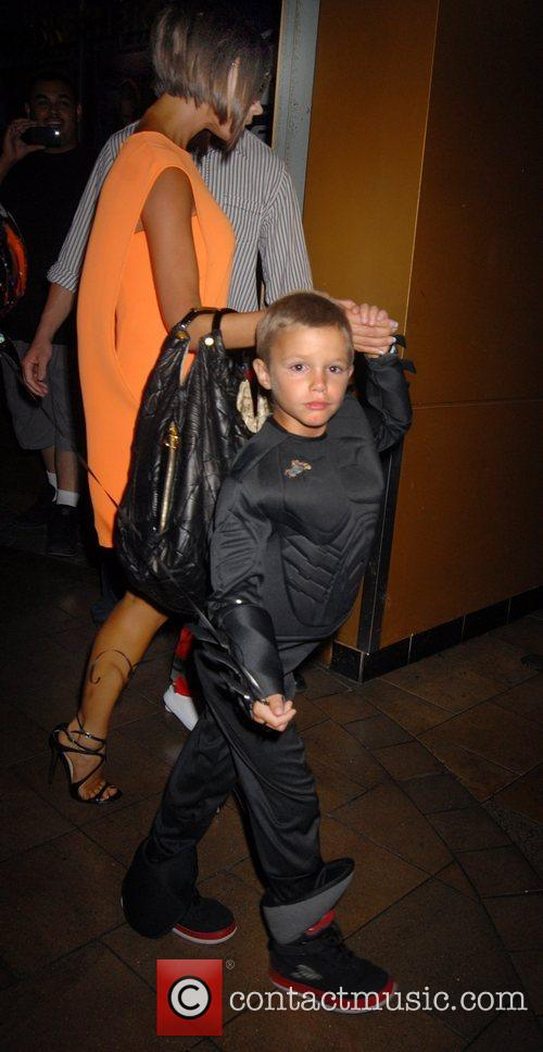 Victoria Beckham and Romeo Beckham At His 6th Birthday Party At The Hard Rock Cafe In Universal City 5