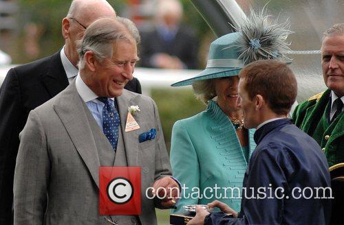 Prince Charles, Prince Of Wales, Camilla and Duchess Of Cornwall Present Winning Jockey Aidan O'brien With A Prize At Royal Ascot - Day 2 3