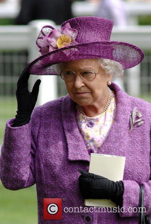 HRH Queen Elizabeth II  holds onto her...