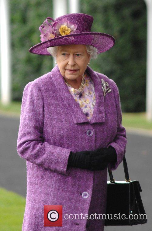 HRH Queen Elizabeth II  arrives at Royal...
