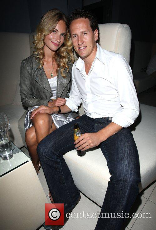 Brendan Cole with his girlfriend RS Lounge club...