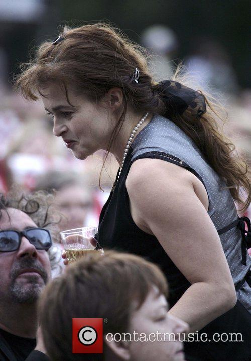 Helena Bonham Carter and Tim Burton at the...