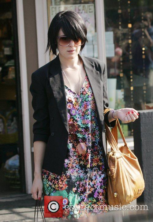 Rumer Willis leaves the Planet Blue shop in...