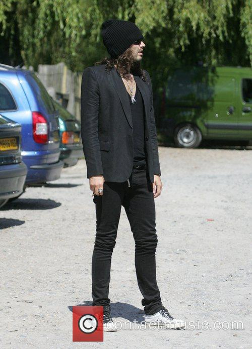 Russell Brand out and about in Hampstead London,...