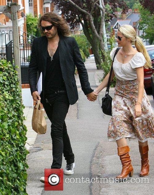 Russell Brand out and about in Hampstead with...
