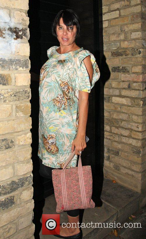 Sadie Frost leaving Kate Moss' house