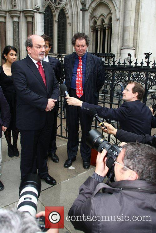 Salman Rushdie leaves the High Court Rushdie visited...