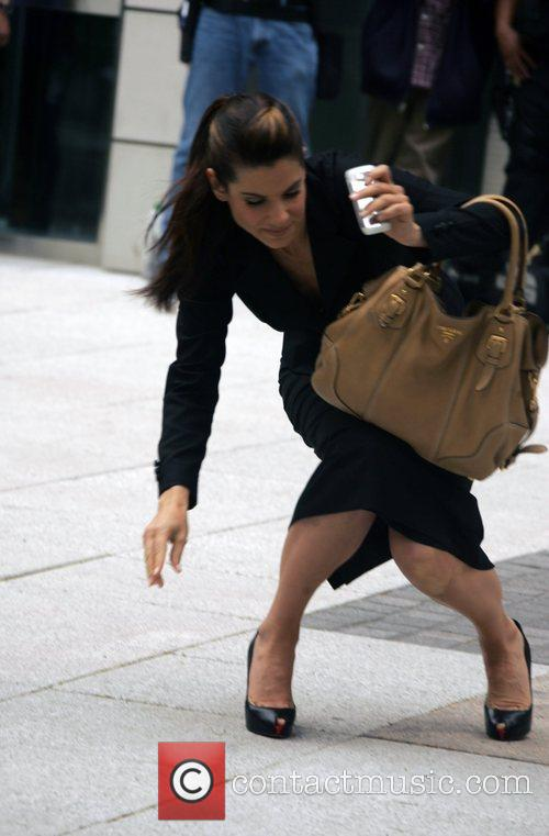 Sandra Bullock on the film set of 'The...