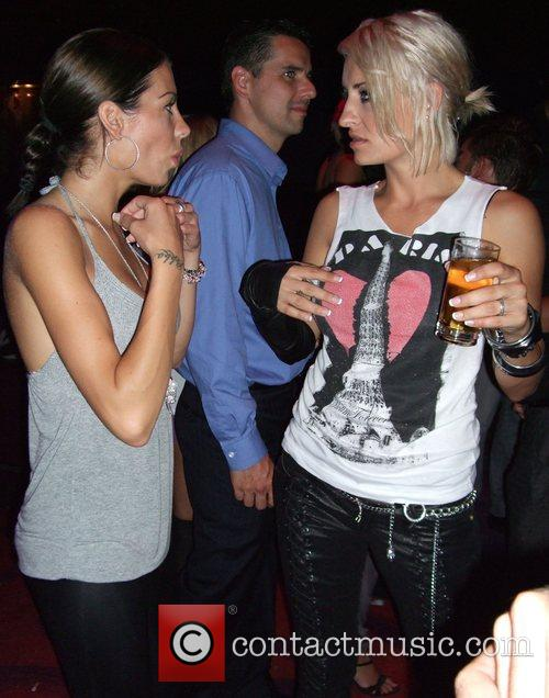 Sarah Connor, her sister Anna-Maria Aftershow-party for the...
