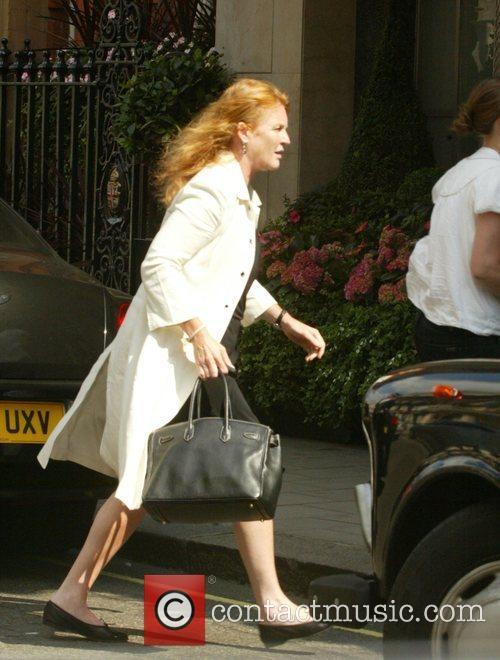 Sarah Feguson, Duchess of York, outside Claridges Hotel...