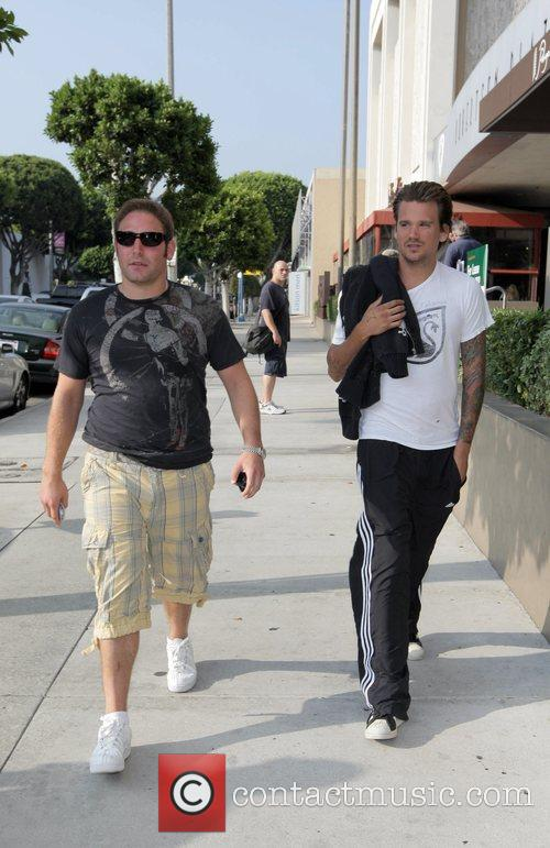 Sean Stewart and Dave Weintraub walking down Robertson...
