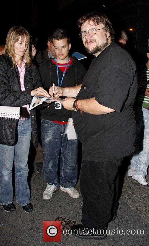 Guillermo Del Toro signing autographs when he leaves...