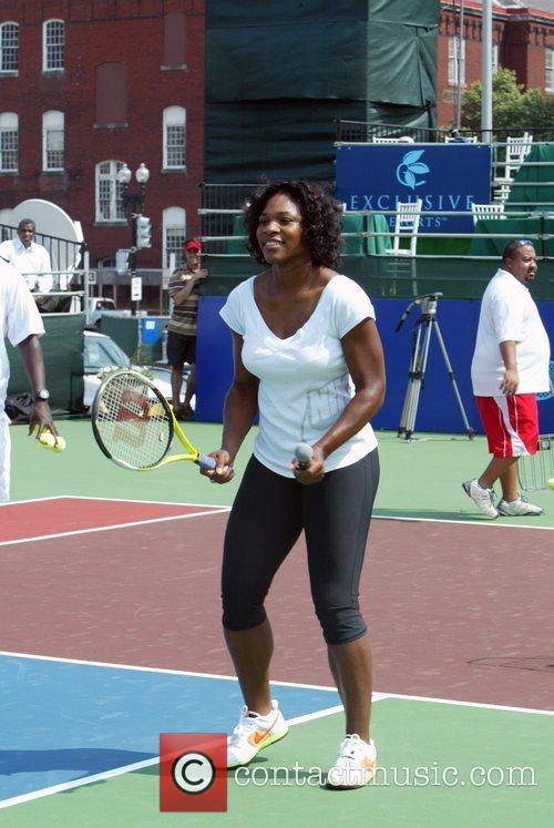 Participated in a tennis clinic for Washington DC...
