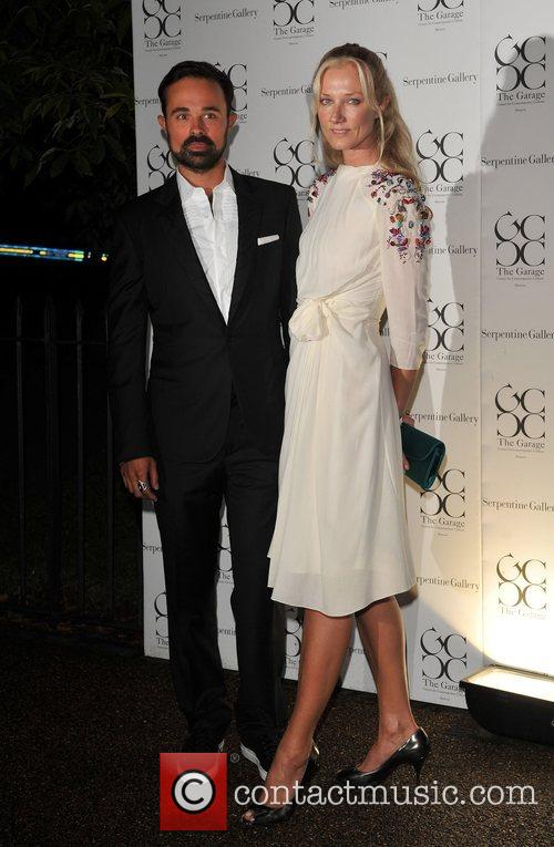 Joely Richardson and Evgeny Lebedev The Serpentine Gallery...