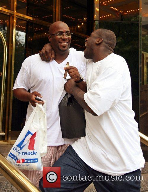 Shaquille O'neal and A Friend Leaving His Hotel In Manhattan 9