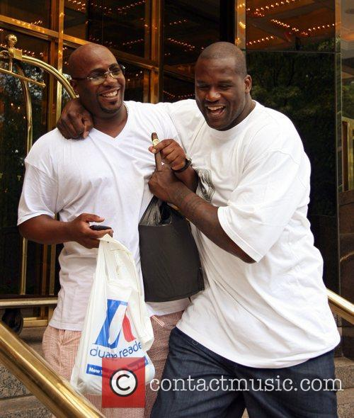 Shaquille O'neal and A Friend Leaving His Hotel In Manhattan 3