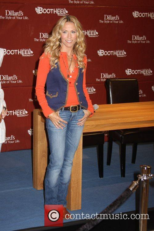 Sheryl Crow makes an appearance to promote her...