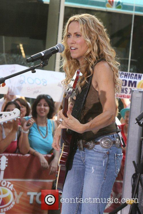 Sheryl Crow and Rockefeller Plaza 55
