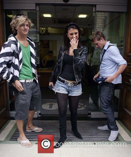 Rowan, Carly and Tom from Shipwrecked 2008 outside...