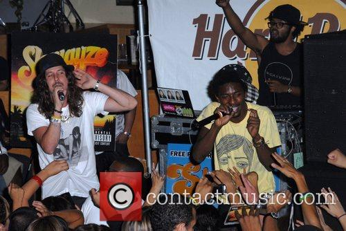 Shwayze and Cisco Adler Performing At Hard Rock Cafe City Walk 10