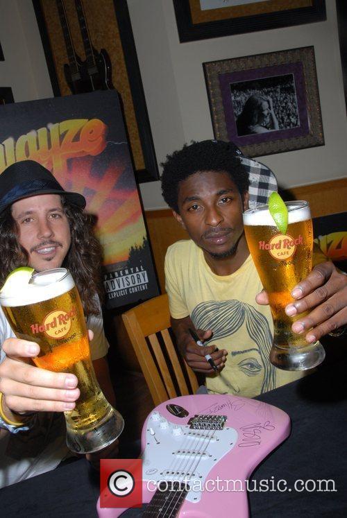Shwayze and Cisco Adler signing at Hard Rock...