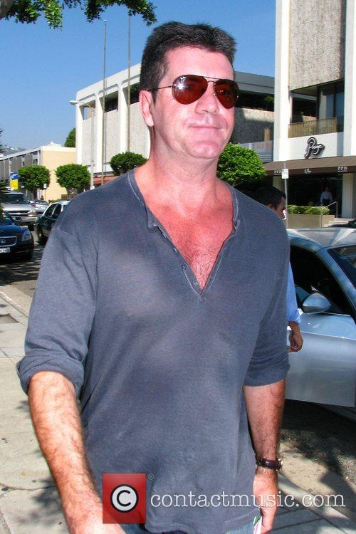 Simon Cowell arrives at the Ivy restaurant for...