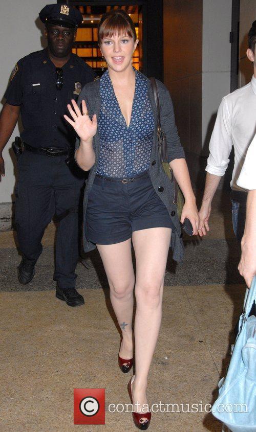 Amber Tamblyn outside of MTV studios in Manhattan...