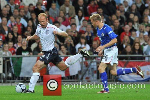 Alan Shearer and Nicky Byrne Soccer Aid charity...