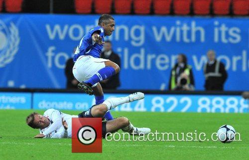 Romario Soccer Aid charity football match held at...