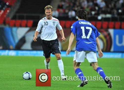 Teddy Sheringham Soccer Aid charity football match held...