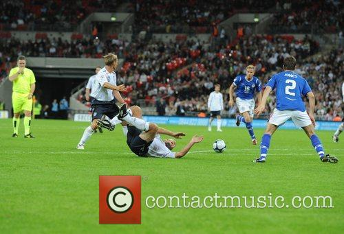 England penalty incident Soccer Aid charity football match...