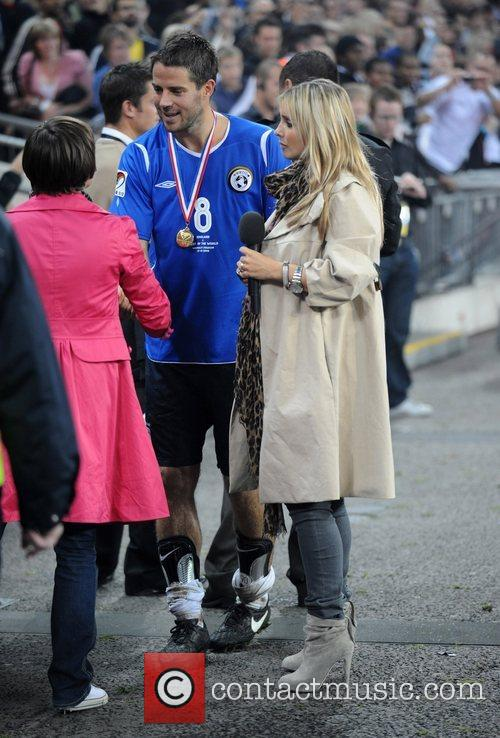 Jamie Redknapp and wife Louise Redknapp Soccer Aid...