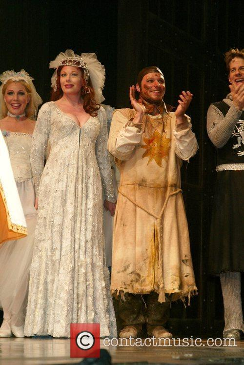 On stage for the curtain call after their...