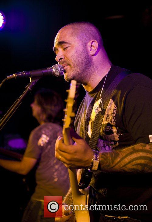 Staind performing live at the Hard Rock Cafe