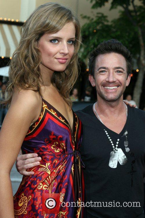 David Faustino and guest Step Brothers Premiere- Arrivals...