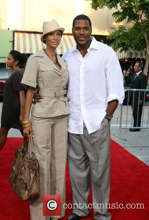 Nicole Murphy and Michael Strahan Step Brothers Premiere-...