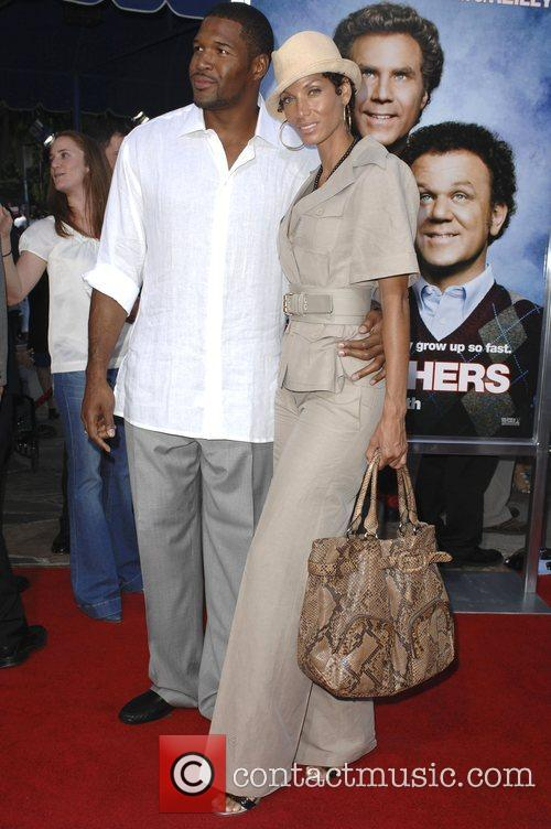Michael Strahan and Nicole Murphy Step Brothers Premiere-...