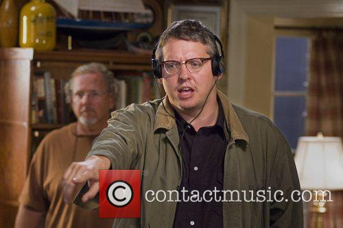 Adam McKay on the set Step Brothers, 2008