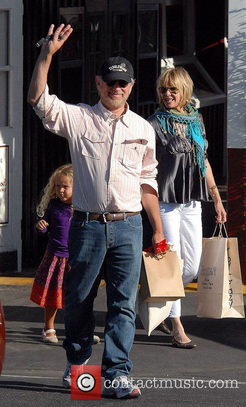 Steven Spielberg and Family Go Shopping In Brentwood 8